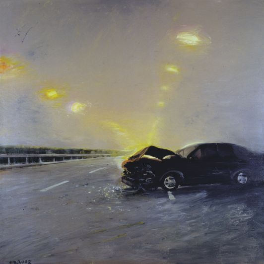 Liu Xiaodong 2002 Traffic Accident 200x200cm.jpg